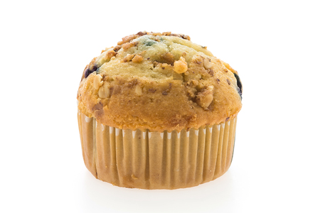 blueberry muffin: Blueberry muffin cakes isolated on white