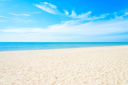 복사 공간 빈 바다와 해변 배경