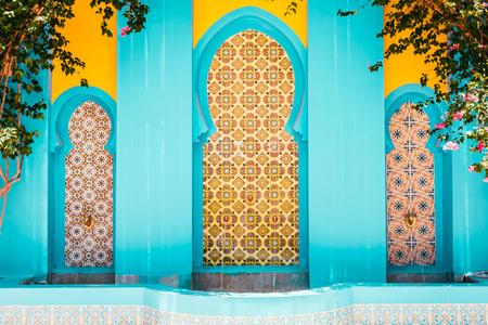Marokko Architektur-Stil - Vintage-Filter-Effekt Standard-Bild - 44024527