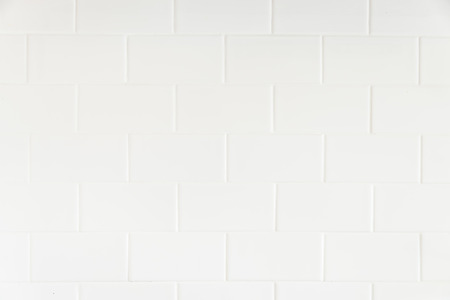 White tiles wall textures background Banco de Imagens