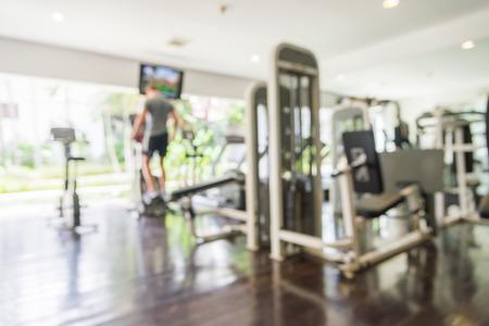 Zusammenfassung Unschärfe Hintergrund Fitness-Studio Lizenzfreie Bilder