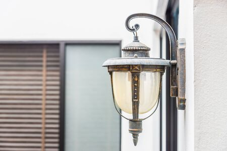 wall sconce: Vintage light lamp on wall Stock Photo