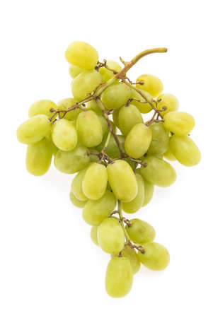 white grape: Grapes fruit isolated on white background Stock Photo