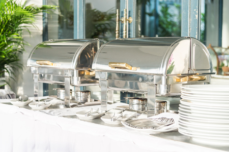 buffet lunch: Catering buffet dining in hotel restaurant