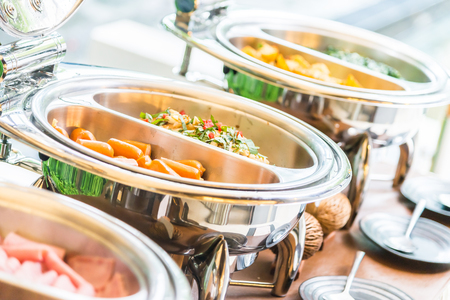 Selective focus point on Catering buffet food in restaurant