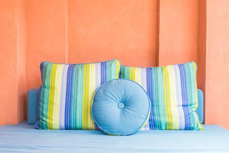 sofa: Sofa pillow decoration in living room