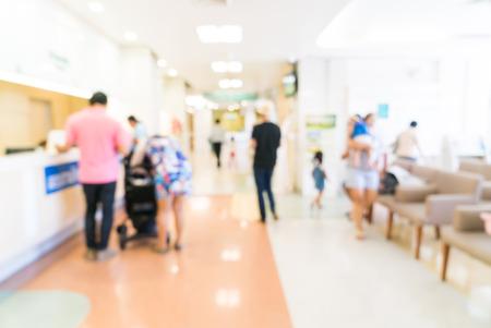 hospitales: Resumen desenfoque de fondo del hospital Foto de archivo