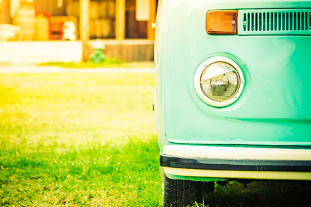 shiny car: Headlight lamp car - vintage filter effect