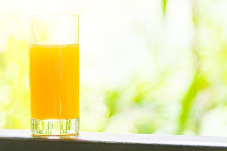 ourdoor: Punch juice glass with ourdoor view background