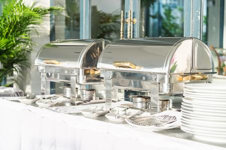 restaurant dining: Catering buffet dining in hotel restaurant