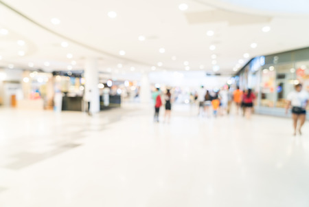compras: Resumen borroso fondo centro comercial Foto de archivo