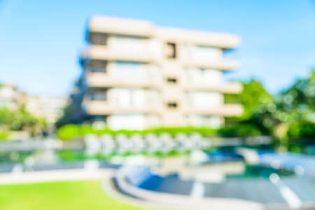 hotel resort: Abstract blur hotel resort background