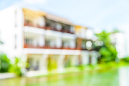 hotel resort: Abstract Blur hotel resort background Stock Photo