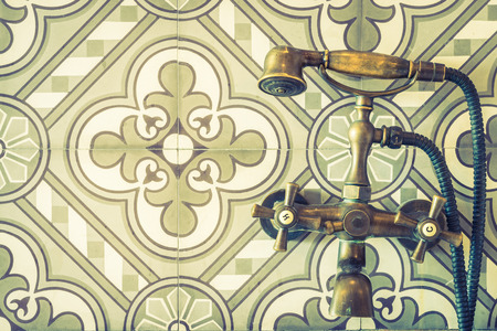 to sink: Vintage faucet sink - vintage filter