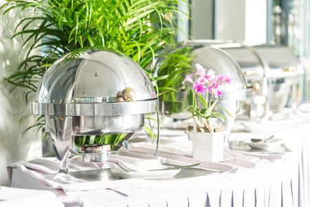 호텔 레스토랑에서의 식사 뷔페 스톡 콘텐츠 - 45776880