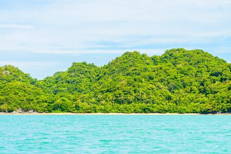 landschaft: Schöne tropische Insel, Strand, Meer, und das Meer Lizenzfreie Bilder