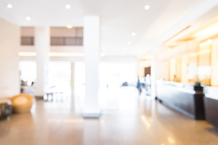 Abstract blur hotel lobby background 写真素材