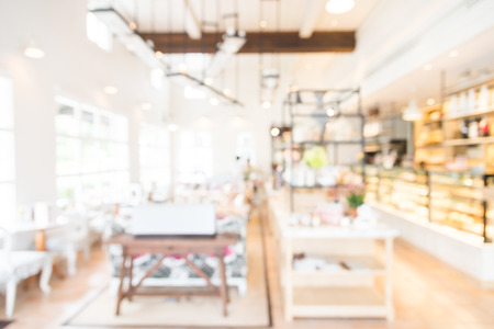 Abstract Blur coffee shop interior background
