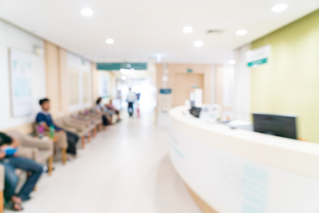 Abstract blur hospital background Banque d'images