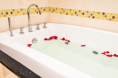 Jacuzzi bath Stock Photo