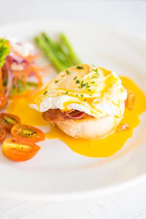 benedict: Eggs benedict for breakfast