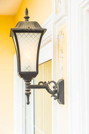 sconce: Light lamp on wall decoration interior room