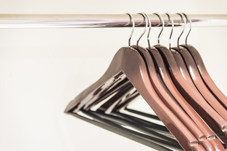 hangers: clothes hangers Stock Photo