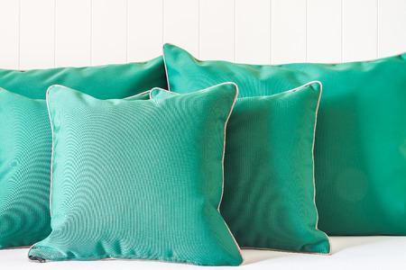 green sofa: Green sofa pillows
