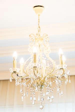 lamp light: chandelier light lamp Stock Photo
