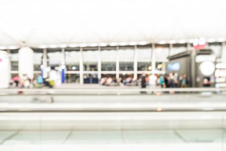 hong: Abstract blur hong kong airport background Stock Photo