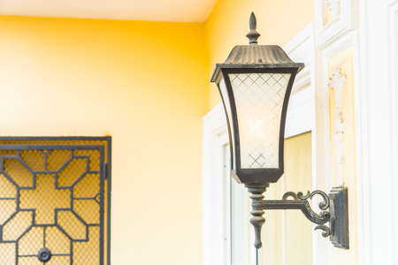 wall sconce: Light lamp on wall decoration interior room