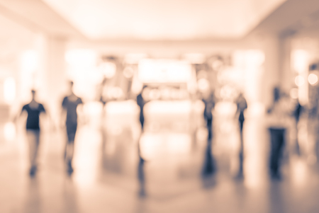 Abstract blur shopping mall background - vintage filter effect 写真素材