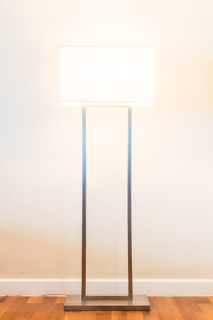 bedside lamps: Lamp decoration in empty room