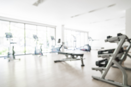 Abstract blur gym background
