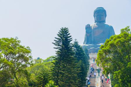 hongkong: Giant buddha statue in hong kong Stock Photo
