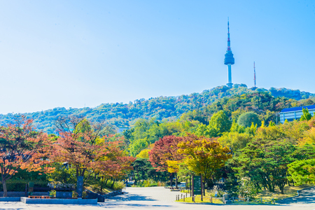 Seoul tower in seoul city , korea