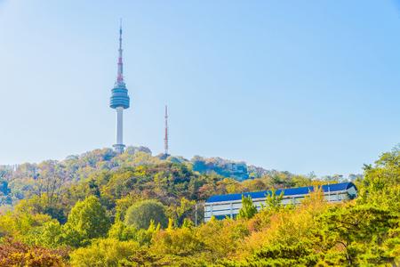 n: Seoul tower in seoul city , korea