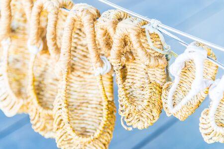 sandal: zapatos de la sandalia de paja - estilo de Corea