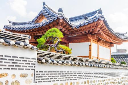 korean style house: Bukchon hanok village in seoul city at Korea