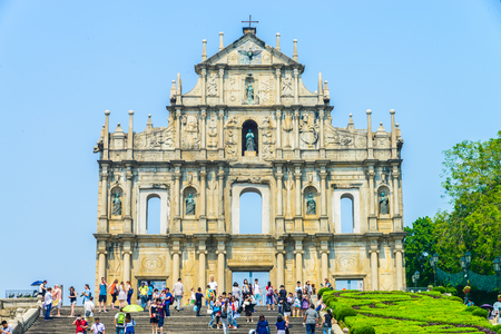Ruins St.Paul Church in macau city
