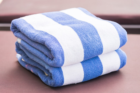 white towels: Towel on bed pool
