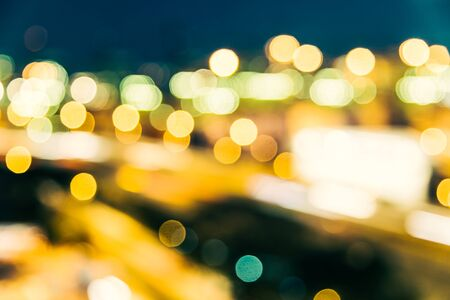 street lights: Abstract blur city background - vintage filter effect Stock Photo