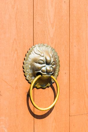 door handle: Door handle chinese style Stock Photo