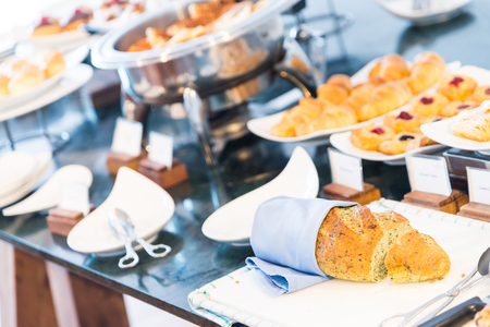 catering food: Catering buffet food - selective focus point