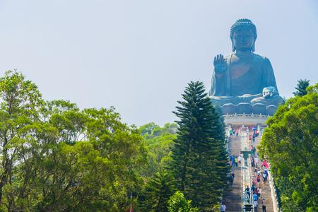 hong: Giant buddha statue in hong kong Stock Photo