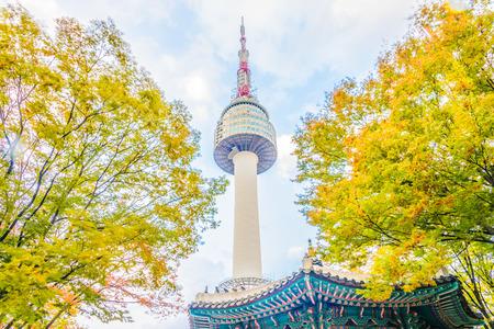 Seoul tower in seoul city , korea