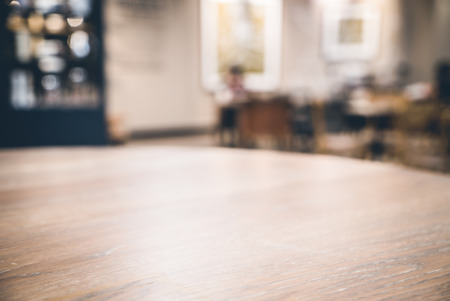 hdr background: Abstract blur coffee shop interior background - HDR Merge 3 Photos and vintage filter Processing Stock Photo