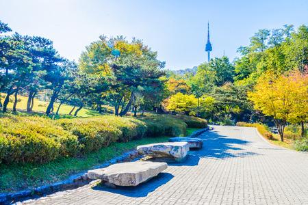 Seoul: Seoul tower in seoul city , korea