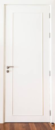 room door: White door decoration in room