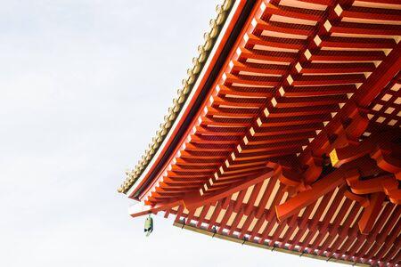 asakusa: Beautiful Architecture in Sensoji Temple around Asakusa area at Japan Stock Photo